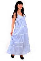 Платье сарафан из хлопка.