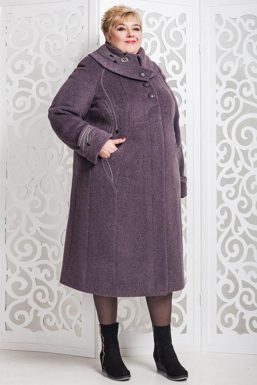 Женское зимнее пальто больших размеров (р. 60-76) арт. 524 Unito Тон 40