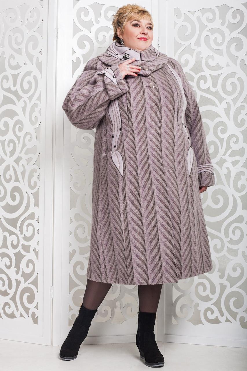 Женское зимнее пальто больших размеров (р. 60-76) арт. 524 Maila/1 Тон 64