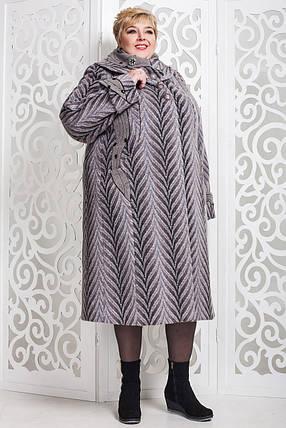 Женское зимнее пальто больших размеров (р. 60-76) арт. 524 Vu Тон 114, фото 2