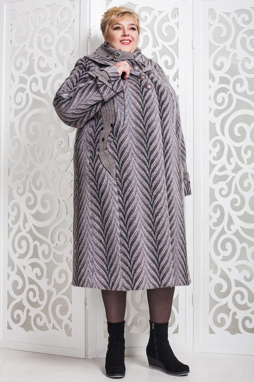 Женское зимнее пальто больших размеров (р. 60-76) арт. 524 Vu Тон 114