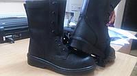Ботинки с высокими берцами на ПУ зимние. Утепленная форменная обувьКачест