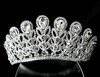 Диадема корона на обруче в форме веток, высота 5 см