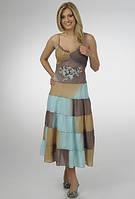 Платье женское с красивым лифом голубое, пл 10230-1.