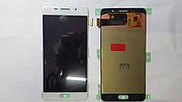 Дисплей  (экран) Samsung Galaxy A5, A510F (2016) с белым сенсором original.