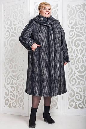 Женское зимнее пальто больших размеров (р. 60-76) арт. 524 Esse Тон 116, фото 2
