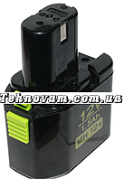 Аккумулятор для шуруповерта Hitachi узкий 3 контакта MH12s 12V 1.5Ah