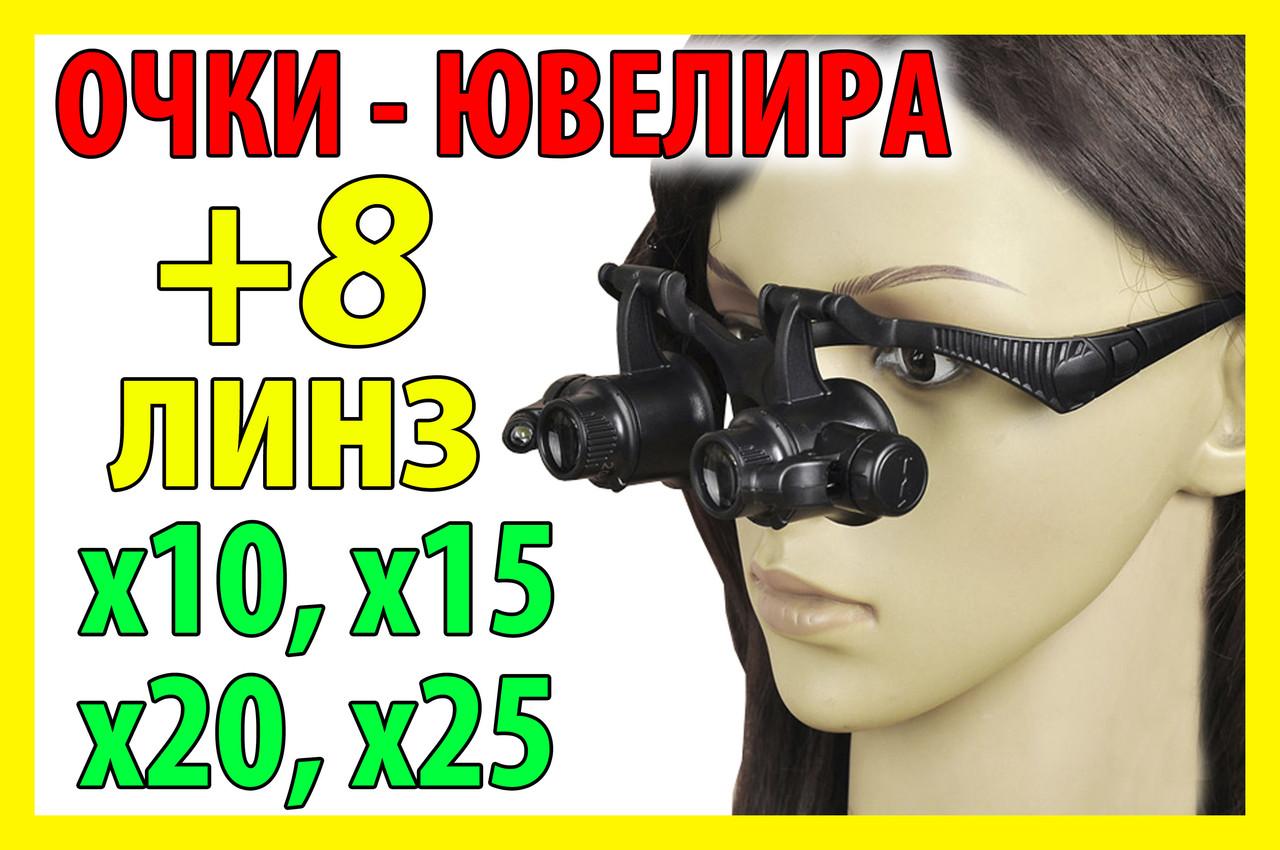 25х 20х 15х 10х Очки часовщика ювелира увеличительная линза лупа окуляр оптика