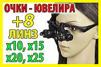 25х 20х 15х 10х Очки часовщика ювелира увеличительная линза лупа окуляр оптика, фото 1