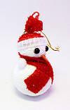 Ёлочная игрушка-Снеговик-10,0 см.-12 шт., фото 2