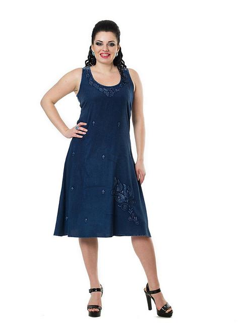 Платье женское «ХОЛОДОК» с кружевной вставкой