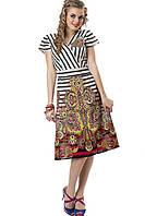 Платье женское с восточным мотивом, хлопок 13040.