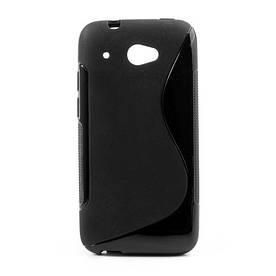 Чехол силиконовый S формы на HTC Desire 601, черный