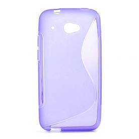 Чехол силиконовый S формы на HTC Desire 601, фиолетовый