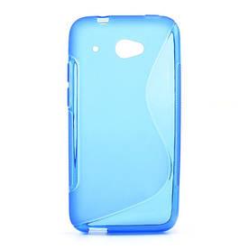 Чехол силиконовый S формы на HTC Desire 601, синий