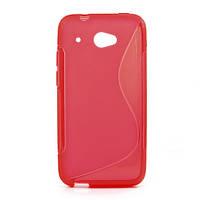 Чехол силиконовый S формы на HTC Desire 601, красный