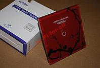 Сенсорный выключатель , закаленное стекло,1 линия красный/черный