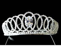 Диадема корона на обруче изысканное сияние, высота 4 см