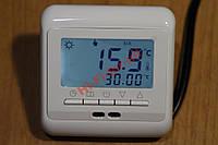 Терморегулятор программируемый на неделю 6kW  теплый пол 2 датчика кабельный пленочный маты ик