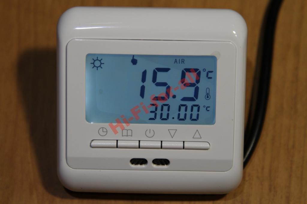 Терморегулятор программируемый на неделю 6kW  теплый пол 2 датчика кабельный пленочный маты ик - Wind-Solar в Днепре