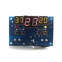 Терморегулятор с индикацией 12 В. 9…99 С, с настройки гестерезиса и контролем нагрева и охлаждения, фото 1