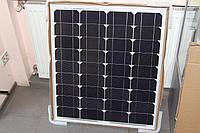 Солнечная панель батарея 70вт 70w вт монокристалл на дачу рыбалку для дома катера кемпинга