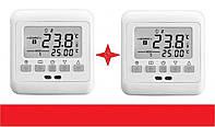 LED термостат на теплый пол 3600вт 2 датчика воздух+пол. 2 ШТУКИ, программируемый