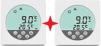 Терморегулятор теплый пол 3.6kW воздух+пол 2 ШТУКИ программируемый на неделю Дисплей ик пленка кабель маты