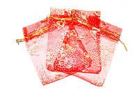 Мешочек из органзы Красный 1шт / 100 шт / 500 шт