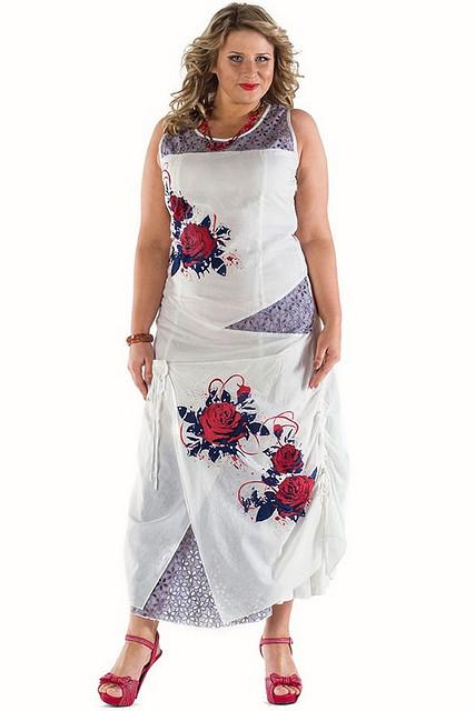 Платье женское с розами
