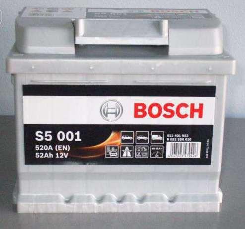 Аккумуляторная батарея Bosch S5 12v 52Аh 520A