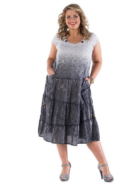 Платье женское 13080-2, хлопок, интернет магазин женской одежды, по колено, 50,52,54,56.