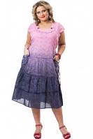 Платье розовое хлопковое женское  ПЛ 13080-3