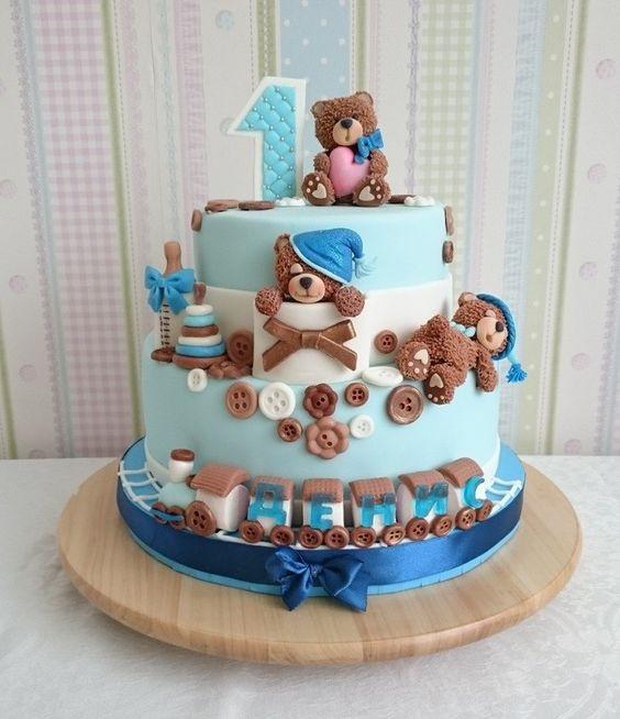 торт на 1 годик фото мальчику