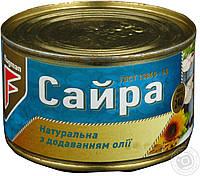 Сайра натуральная с доабвлением масла 240г