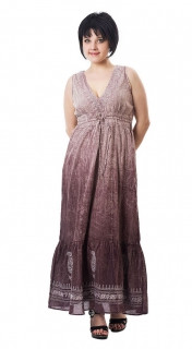 Сарафан хлопковый  женский длинный с вышивкой пл 10221-1