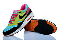 Женские кроссовки Nike Air Max 87 Blue/Pink/Black/Green, фото 1