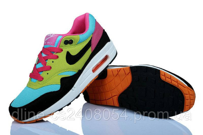 Женские кроссовки Nike Air Max 87 Blue/Pink/Black/Green