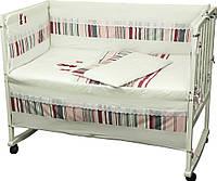 Комплект постельного белья + бортик в детскую кроватку Руно бязь Зайцы