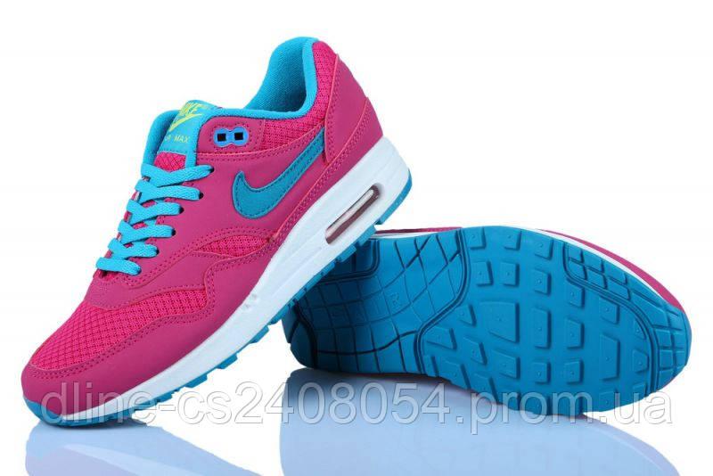 Женские кроссовки Nike Air Max 87 Розовые с синим