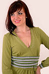 Платье оливковое трикотажное молодежное пл 380374, фото 2