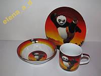 C407 Набор детской посуды Панда Кунг-фу