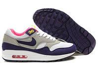 Женские кроссовки Nike Air Max 87 Серый/Белый/Фиолетовый, фото 1