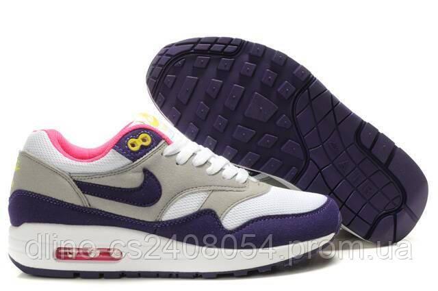 Женские кроссовки Nike Air Max 87 Серый/Белый/Фиолетовый