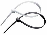 Стяжка пластиковая 3,6*150 белая/черная