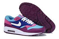 Женские кроссовки Nike Air Max 87 Фиолетовый/Синий/Розовый, фото 1