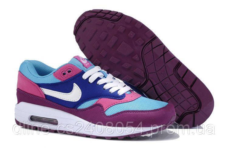 b8bd672a Женские кроссовки Nike Air Max 87 Фиолетовый/Синий/Розовый - KROSIKI  Обувной интернет магазин