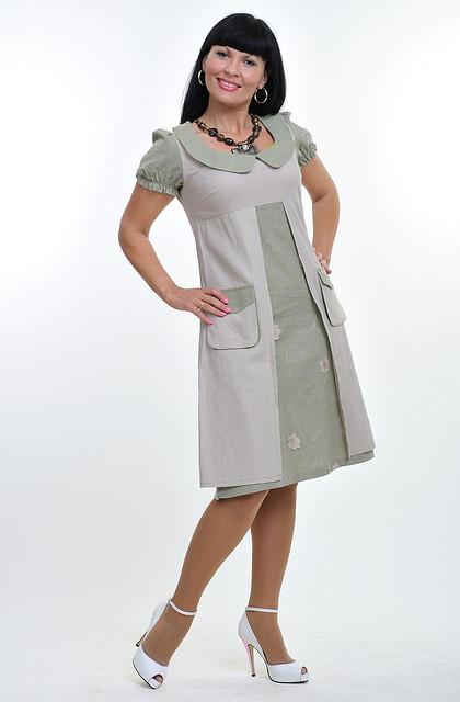 Платье женское  с карманами, 726487