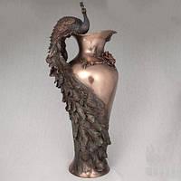 "Бронзовая ваза ""Павлин"" 50 см"