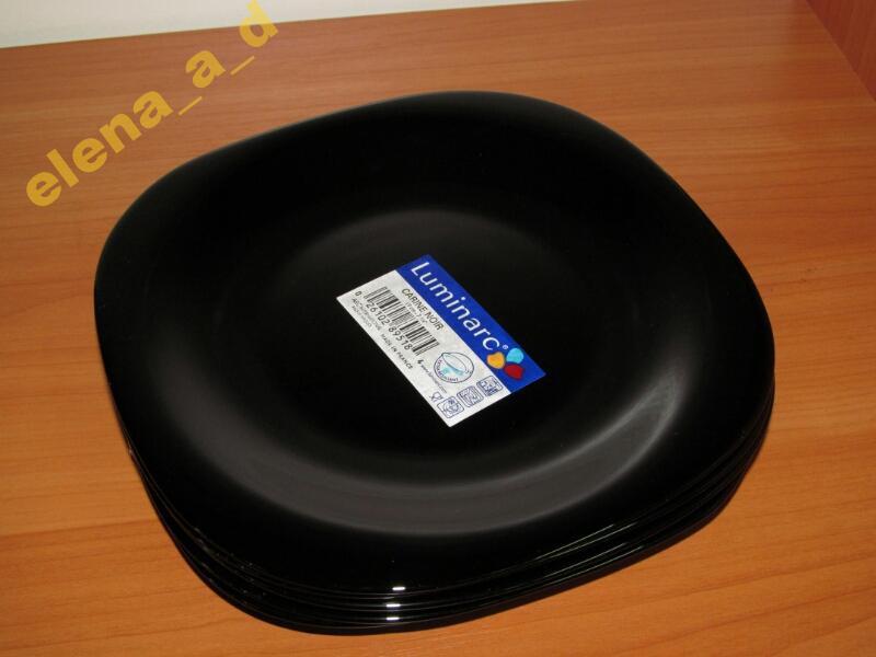 Акция! Распродажа! Остатки товара! Тарелка десертная Carine Black Luminarc